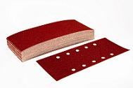 Half Sanding Sheets<BR>Red A/Oxide<br>Punched